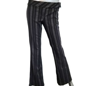 Le Chateau Flare Black Striped Dress Pants Size 9